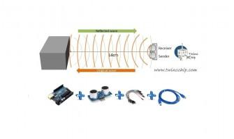 مشروع قياس المسافة عن طريق  HC-SR04 Ultrasonic Sensor
