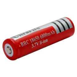 3.7V 6800mAh Rechargeable Lithium Battery  Red