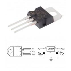 3.3V Voltage Regulator 950mA LD1117V33 (LD33V)