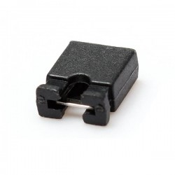 Female Jumper Socket Open Top Black 2.54mm