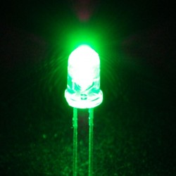 LED Green Clear 5mm  / Green Light Emitting Diode
