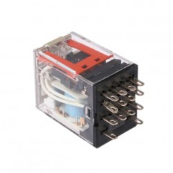 Omron, 24VDC Coil Non-Latching Relay 4PDT, 5A Switching Current Plug In, 4 Pole