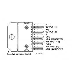 TDA2009A 10W Stereo Amplifier