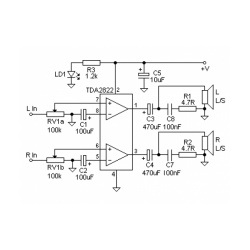 TDA2822D Dual Audio Power Amplifier