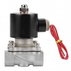 2 Way 2 Position Solenoid Valve  AC220V 1/2 inch Normally Closed Stainless Steel 304