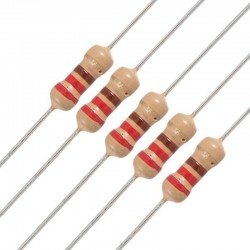 220 Ohm Resistor X 5 Pieces