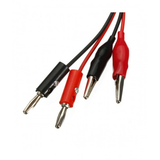 Alligator Test Lead Clip To Banana Plug Probe Cable for Multimeters or Power Supply