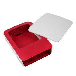 Case White Curved Raspberry Model B+