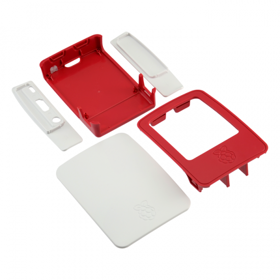 Case White Curved Raspberry Model B+