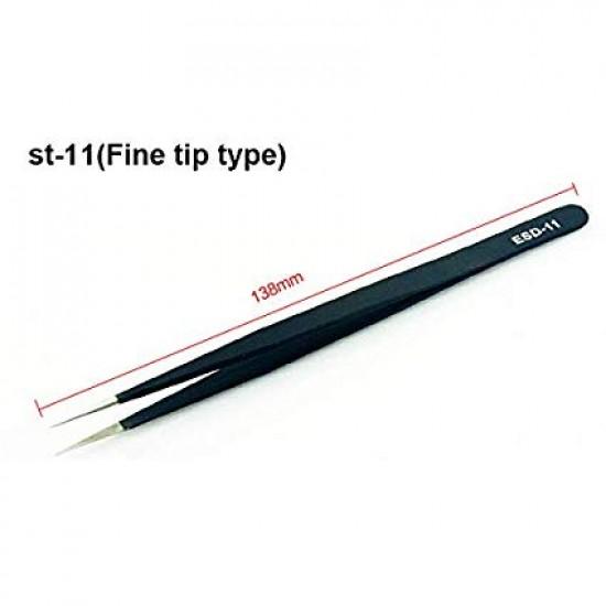 Tweezers Straight ADA ST-11