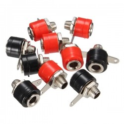 Female Banana Jack For 4mm Banana Plug 2 Colors Red & Black