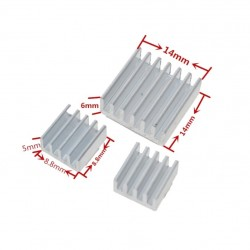 Heat Sink Aluminum Kit for Raspberry