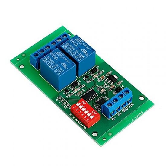 Modbus RTU 2CH 12v RS485 module