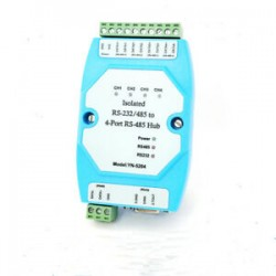Isolated RS-232/RS485 to 4 Port RS485 Hub Industrial Ethernet module