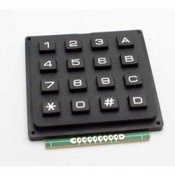 Keypad  4X4 Matrix Black 16-Button