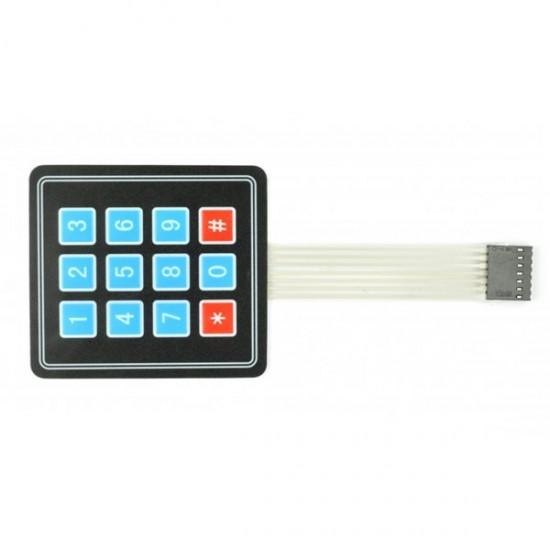 Keypad 3X4 Matrix Keyboard 12Key Membrane