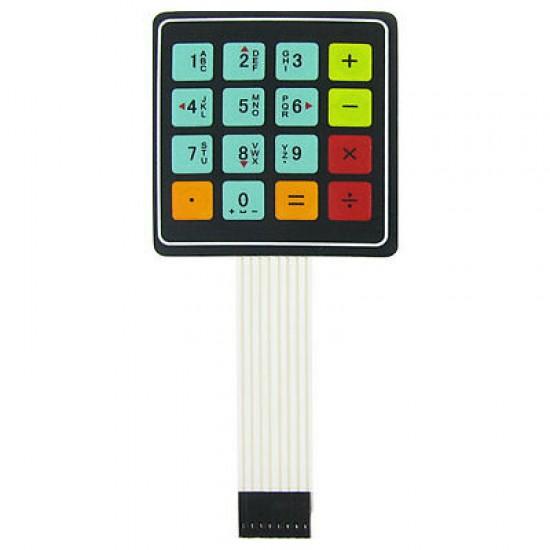 Keypad Calculator  4 x 4 Matrix 16 Key Membrane