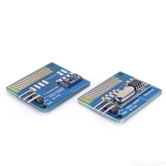 Long Range 433MHz RF Wireless Transceiver and Receiver Kit with Antenna Module LORA