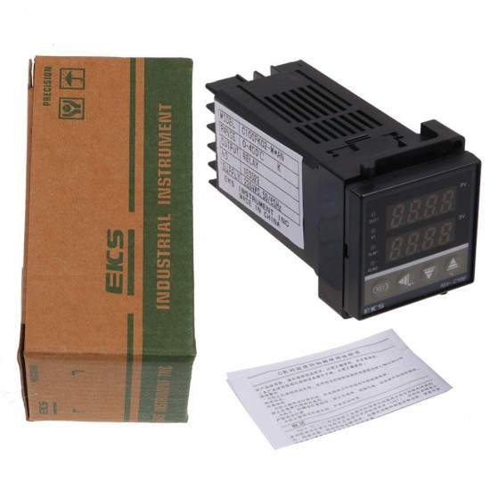 AN digitale 0-400 ℃ Termostato a rel/è PID termoregolatore REX-C100FK02-M