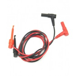 Pair Banana Plug To Test Hook Clip Probe Cable For Multimeter