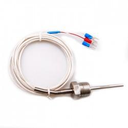 RTD PT100 Temperature Sensor Stainless Steel Probe 3 Wires