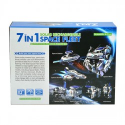 7 in 1 Solar Rechargeable Robot Space Fleet