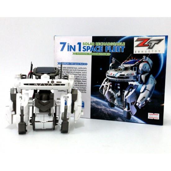 7 in 1 Solar Rechargeable Robot Space Fleet