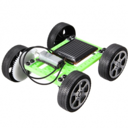 Mini Solar Powered Toy DIY Car Kit Children Educational Gadget