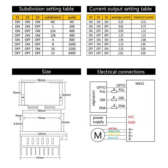Stepper Motor Driver CNC - M415 Hybrid Stepper Motor For 3D Printer