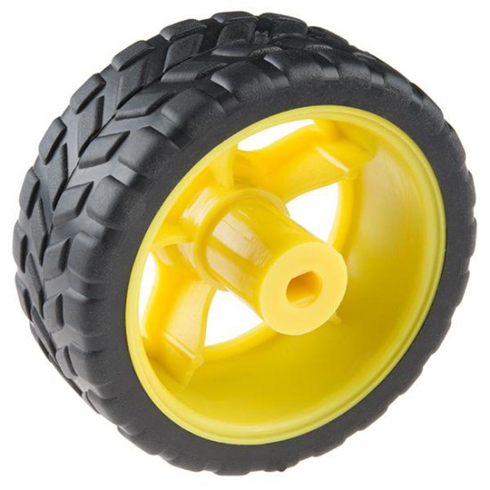 Wheels 65mm Rubber For Robot Chassis &  Gear Motor