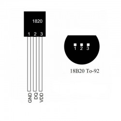 DS18B20  TO-92 Digital Temperature Sensor