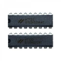 HT12E + HT12D REMOTE CONTROL RF433 IC