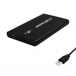 USB External Portable ATA IDE 2.5 Hard Drive Enclosure Case